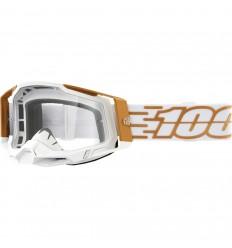 Máscara 100% Racecraft 2 Mayfair Blanco Oro  26013036 