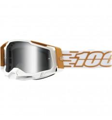 Máscara 100% Racecraft 2 Mayfair Blanco Oro Ahumado  26013039 