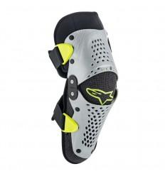 Rodillera Alpinestars Infantil Sx-1 Youth Knee Protector Plata Amarillo Fluor|65